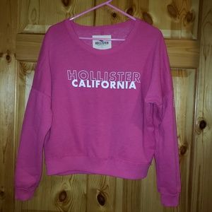 Hollister womens size M Loose Hot Pink Crop Top